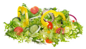 Light salad of fresh vegetables Royalty Free Stock Images