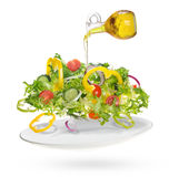 Light salad of fresh vegetables Royalty Free Stock Photo
