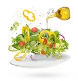Light salad of fresh vegetables Stock Photography