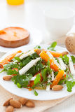 Light salad with pumpkin and almonds Royalty Free Stock Photography