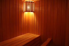 Light in the sauna Stock Photo