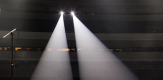 Light from the scene during the concert Royalty Free Stock Photos