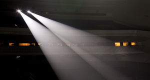Light from the scene during the concert Stock Photography