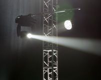 Light from the scene during the concert Stock Photos