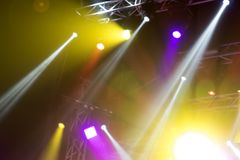 Light from the scene during the concert. Light from the scene, a rock concert Royalty Free Stock Photography