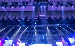 Light from the scene during the concert. Light from the scene, a rock concert Royalty Free Stock Images