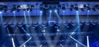 Light from the scene during the concert. Light from the scene, a rock concert Royalty Free Stock Photos