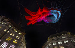 Light Sculpture at Oxford Circus in London