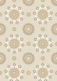 Light seamless background with brown shades. Light brown  seamless background with  decorated of ornament Royalty Free Stock Photo