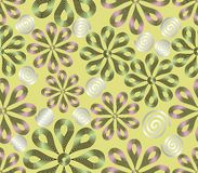 Light seamless background with flower patterns Stock Photo