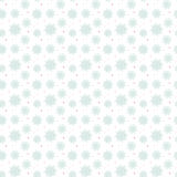 Light seamless blue pattern of many snowflakes. On white background. Soft Christmas winter theme for gift wrapping. New Year seamless background for website Royalty Free Stock Images