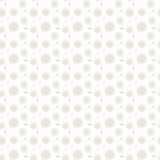 Light seamless gold pattern of many snowflakes on white backgrou Stock Photography