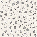 Light Seamless Medical Pattern Royalty Free Stock Photo