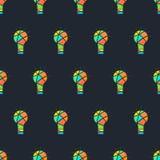 Light seamless pattern. Color the idea. Creative idea. Stock Photo