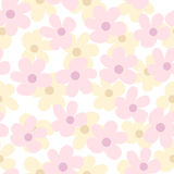 Light Seamless Pattern with Daisies. Seamless Pattern with Daisies. Light Vector Floral Illustration Royalty Free Stock Photos