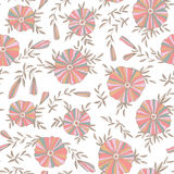 Light Seamless pattern with flowers. Light Seamless pattern with elegant flowers Stock Photo