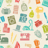 Light seamless pattern of home appliances Stock Photos