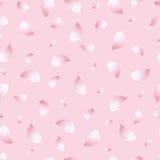 Light seamless pattern pink with flowers sakura Stock Image