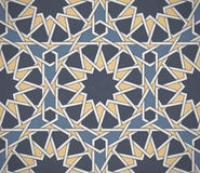 Light seamless symmetrical abstract vector background in arabian style. Islamic traditional pattern. Royalty Free Stock Photography