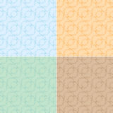 Light seamless textures with curly elements - vector Royalty Free Stock Image