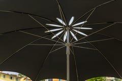 Shade from Black Umbrella. Light and Shade from Black Garden Umbrella stock photo