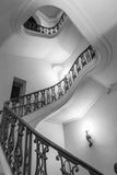 Light and shade in internal stairwell Stock Images