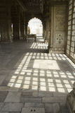Light and Shade Pattern. Sunlight through window panes creates pattern of light and shade at Red Fort, New Delhi, India, Asia Royalty Free Stock Photography