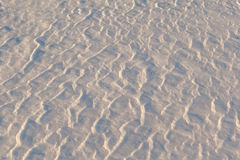 Light and shade on snow. Stock Image