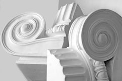 Light and shadow. Image of different architectural forms Stock Photo