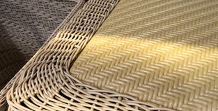 Light and shadow on bamboo basket Royalty Free Stock Photo