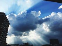 Beautiful sky. Light and shadow, beautiful blue sky stock image