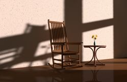 Light and shadow chair Stock Photo