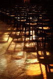 Light and shadow in church. Light and shadow in a church stock photo