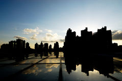 Light and shadow city royalty free stock photos