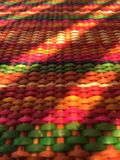 Light and shadow colorful craft. Shadow and light give this mexican colorful handmade traditional craft a nice contrast royalty free stock image