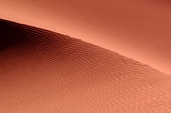 Light and shadow in the desert Stock Images