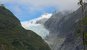 Light and shadow on Franz Josef glacier Royalty Free Stock Photo