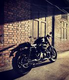 Light and shadow. Harley Davidson Sportster Roadster Royalty Free Stock Photo