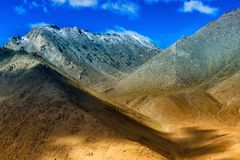 Light and shadow on Himalayan Mountains Royalty Free Stock Images