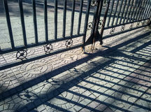Light and shadow of the iron gate Royalty Free Stock Photos
