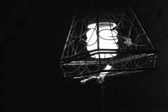 Light shadow. Lamp in monochrome. Lonely and cold Stock Photos