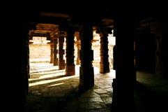 Light and shadow through the pillars Stock Photo