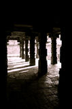 Light and shadow through the pillars Royalty Free Stock Image