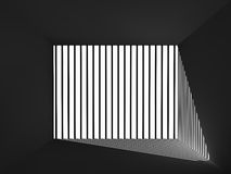 Light and shadow in the prison room Royalty Free Stock Images