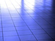 Light and Shadow on White Reflective Floor Stock Photo