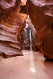 Light Shafts or Beams Antelope Canyon Arizona Stock Images