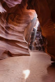 Light Shafts or Beams Antelope Canyon Arizona Royalty Free Stock Photography