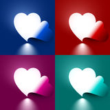 Light through shape heart Royalty Free Stock Images