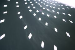 Light shapes from glitterball royalty free stock photography