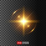 Light flash with lens flare effect vector icon royalty free illustration